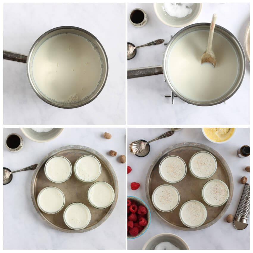 Step-by-step instruction photos for making the recipe