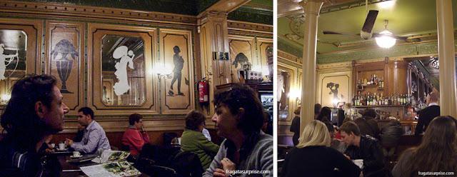 Café del'Ópera, nas Ramblas de Barcelona