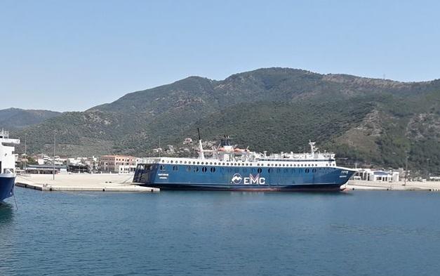Επιτέλους φεύγει από το λιμάνι της Ηγουμενίτσας το Vastervik