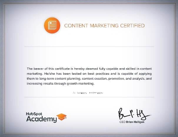 شهادة-المحتوى-التسويقي-HubSpot-Content-Marketing-Certification