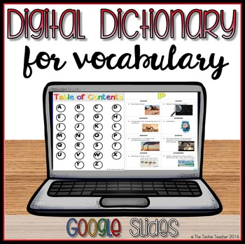 Digital Dictionary for Vocabulary in Google Slides