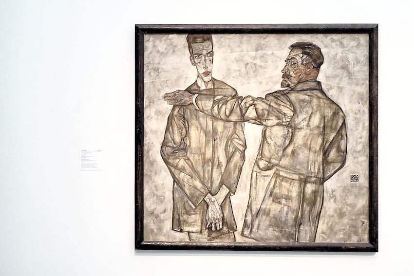Egon Schiele, Doppelbildnis Heinrich und Otto Benesch (1913)