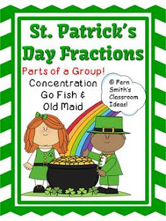 St. Patrick's Day Fractions Center Parts of a Group