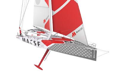 L'IMOCA MACSF en chantier dévoile ses nouvelles couleurs