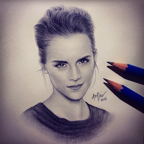 15-Emma-Watson-André-Manguba-Celebrities-Drawn-and-Colored-in-with-Pencils-www-designstack-co