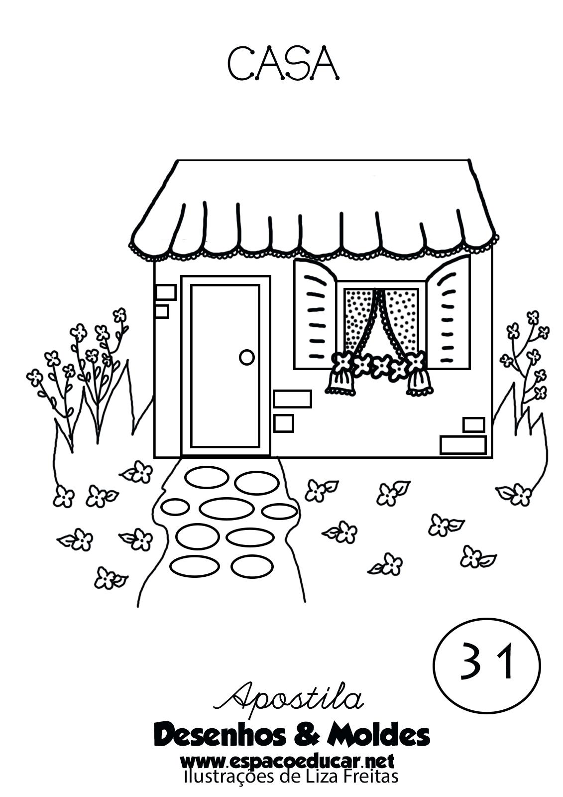 Desenho De Casa Lar Moradia Para Pintar Colorir Imprmir