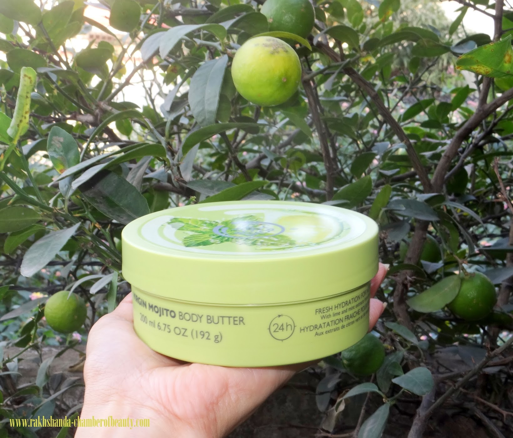 The Body Shop Virgin Mojito Body Butter Review, body butter, The Body Shop, Indian beauty blogger, The Body Shop Virgin Mojito  range in India, review, the body shop body butter review and swatches, Virgin Mojito body butter review, Chamber Of Beauty, body care, body moisturiser