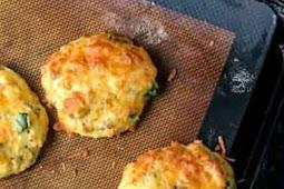 Healthy Savory Breakfast Cookies - low carb, gluten free