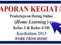 Laporan Pembelajaran Daring Online (Work From Home) Guru Kelas 3 dan 4 SD K-2013