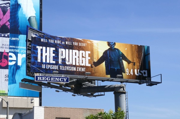 The Purge series premiere billboard