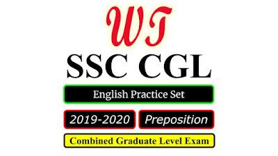 SSC CGL 2020 English Preposition Practice Set Free PDF Download