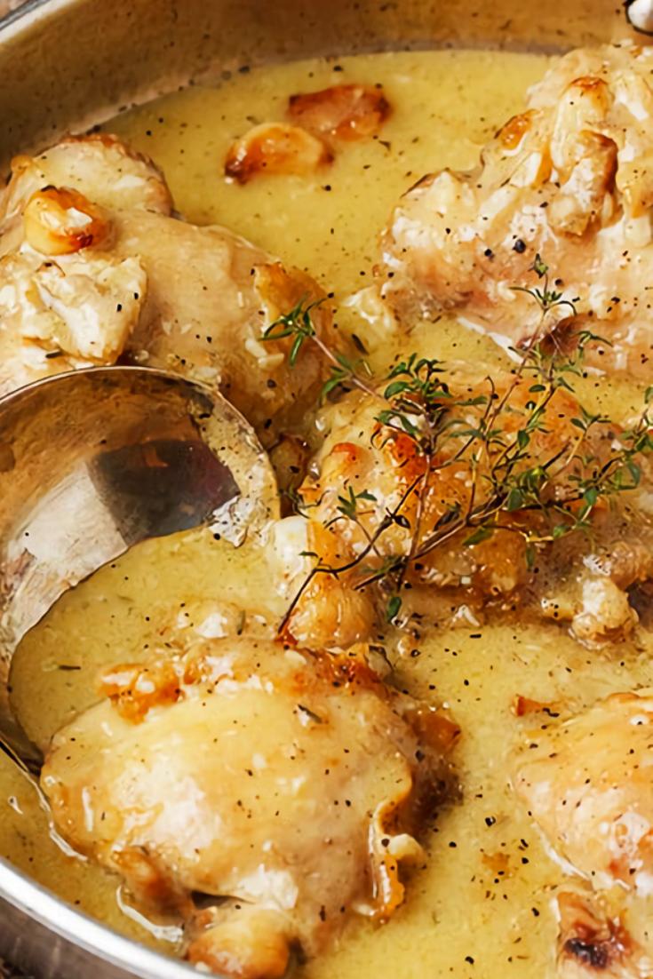 Rustic Chicken Recipe With Garlic Gravy