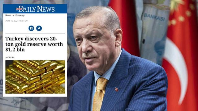 Turki Temukan Cadangan Emas 20 Ton, Nilainya 1,2 Miliar Dolar AS