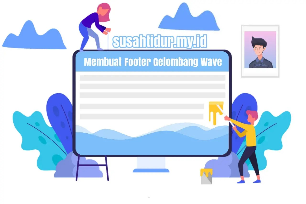 Membuat Footer Blog Gaya Gelombang Wave