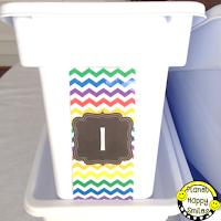 Walmart White Ice Bin Classroom Labels
