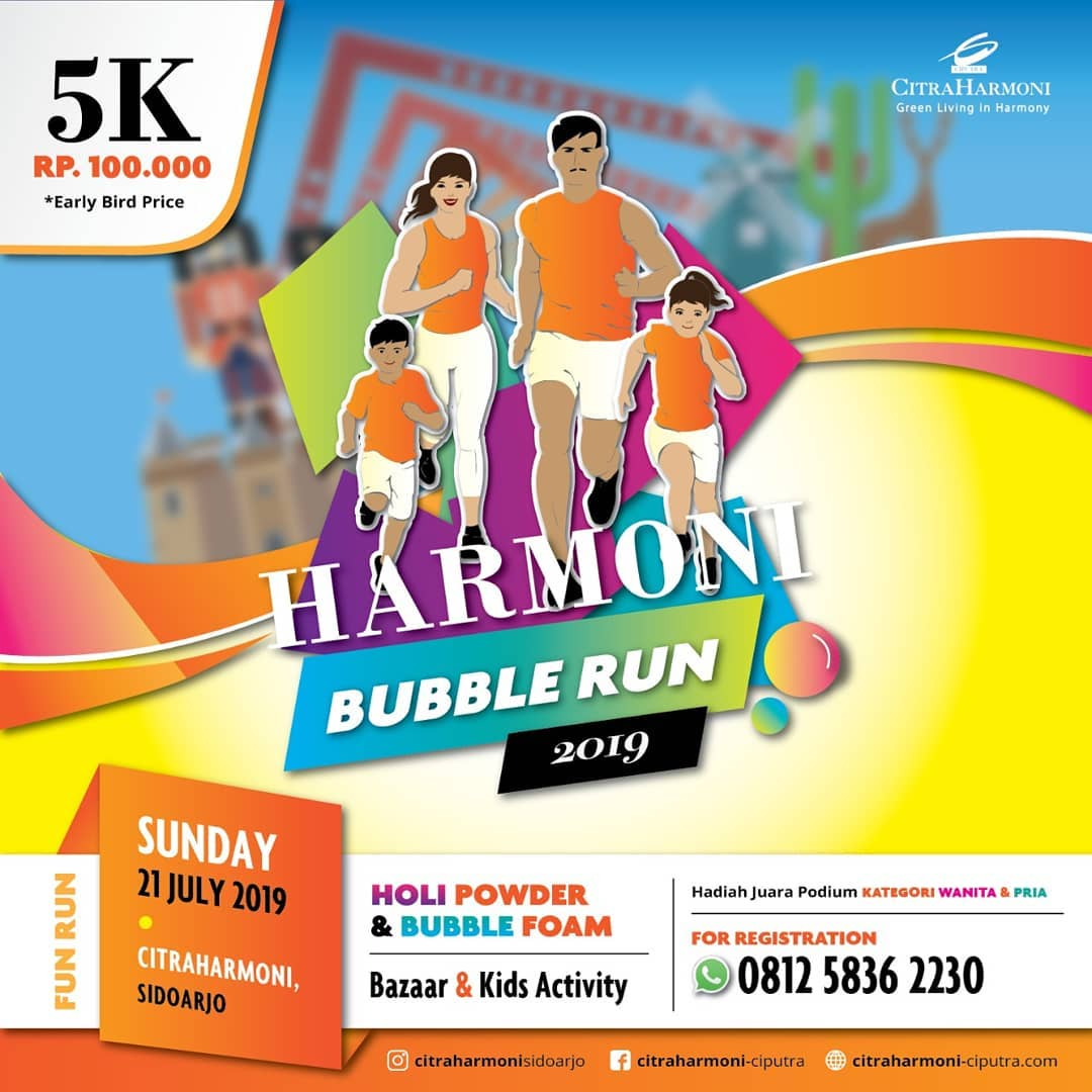 Harmoni Bubble Run • 2019