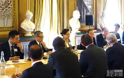 經濟部次長王美花(後排左三)昨(1)日出席臺英次長級經貿對話會議