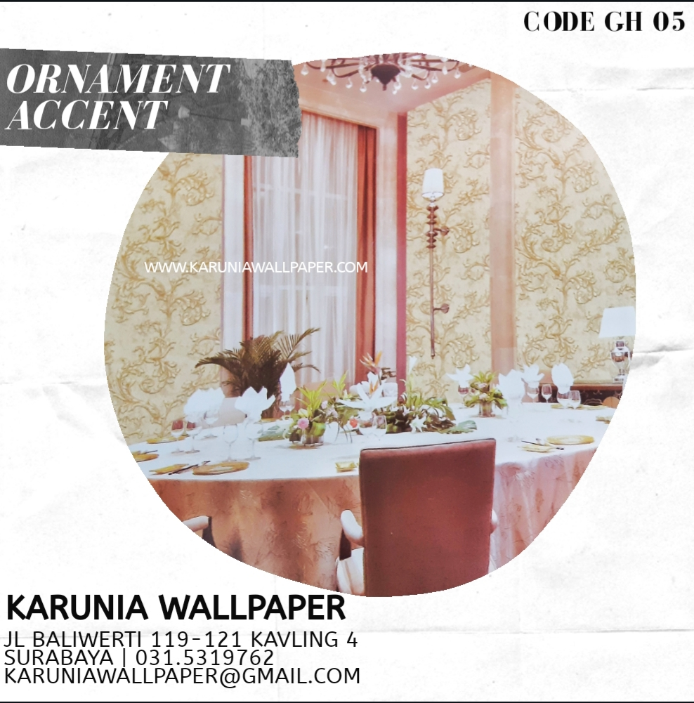 jual wallpaper klasik ornamen
