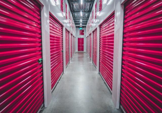 a pink storage unit