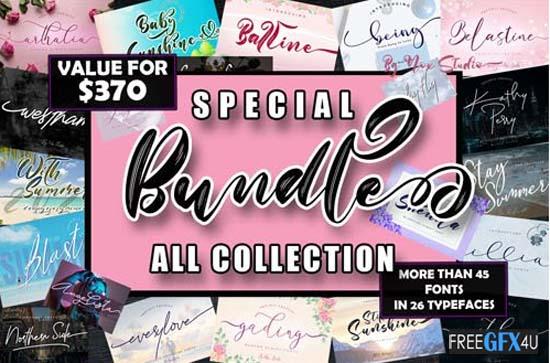 Special Bundle Fonts Collection