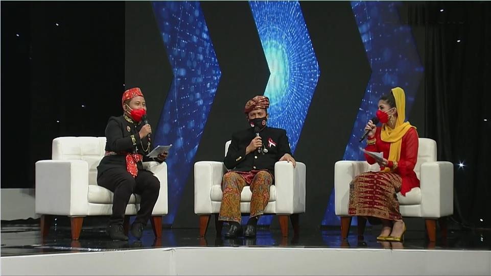 Kepala BNPT Boy Rafli saat talkshow di acara Salam Indonesia Harmoni pada Minggu 14 Februari 2021 di TVRI. (Dok. Istimewa)