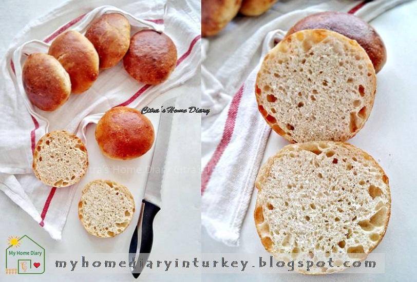 Tombik Ekmek (poolish ön mayası) / Turkish style burger bun recipe. Poolish method | Çitra's Home Diary.