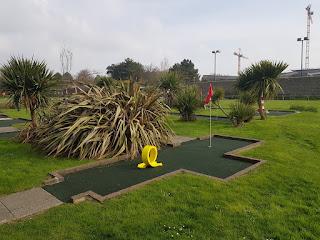 Splash Point Mini Golf course at Denton Gardens in Worthing