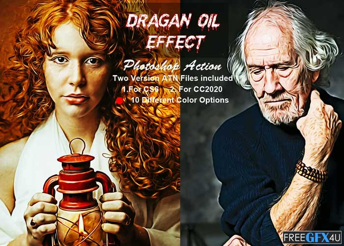 Dragan Oil Effect Photoshop Action