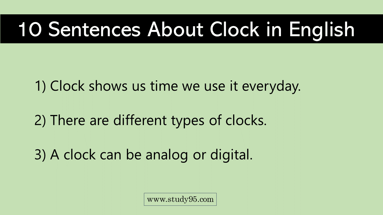 10 Lines on Clock