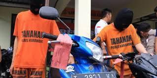 Parah, Dua Pelajar Karawang Terlibat Pencurian Sepeda Motor