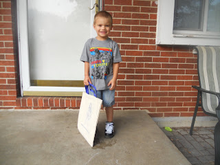 Child's First Day of Preschool