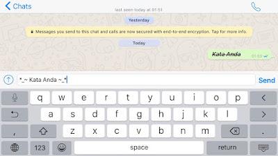 kombinasi variasi huruf(kata) di whatsapp