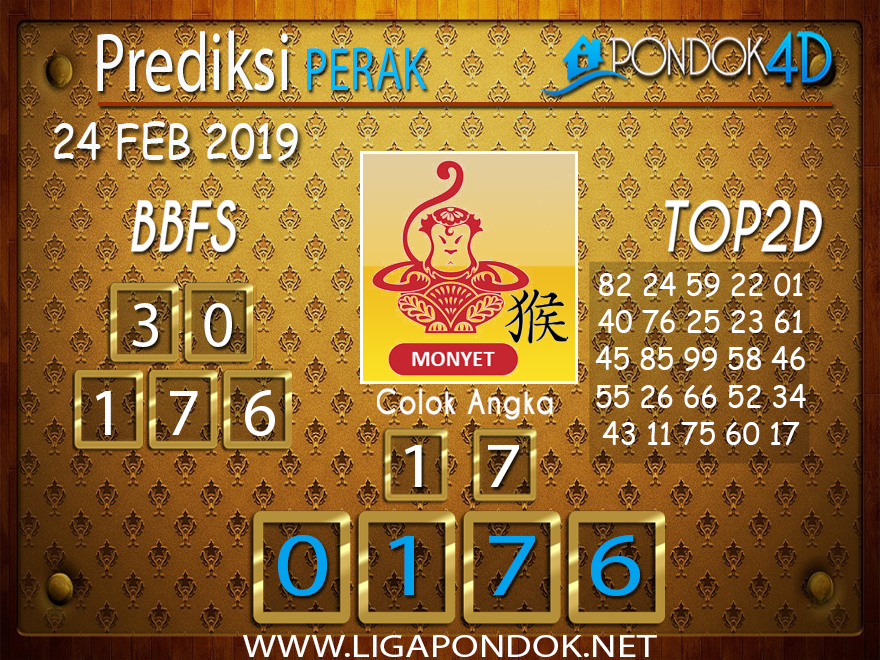Prediksi Togel PERAK PONDOK4D 24 FEBRUARI 2019