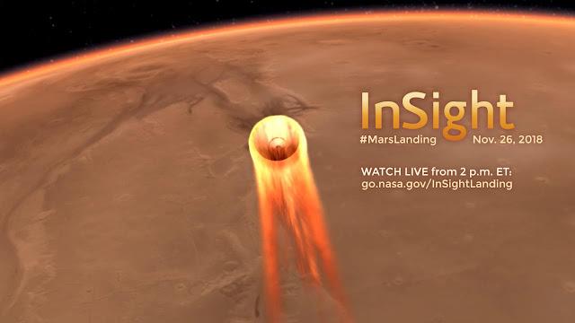 Transmissão ao vivo do Pouso de Sonda da Nasa em Marte