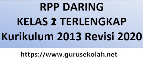 RPP Daring 1 Lembar Kelas 2 SD/MI Lengkap