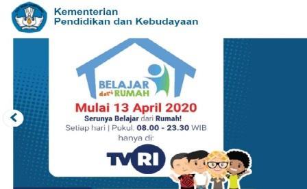 """Kemendikbud meluncurkan program """"Belajar dari Rumah Melalui Tayangan TVRI"""" sebagai alternatif belajar"""