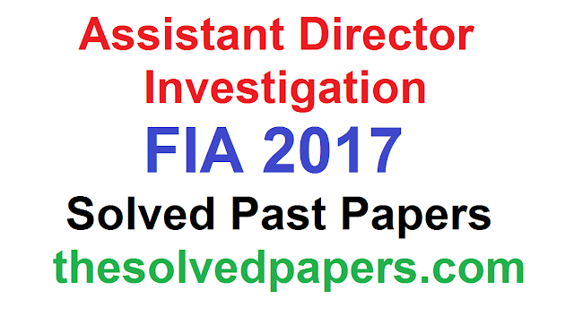 Past Papers of Assistant Director 2019
