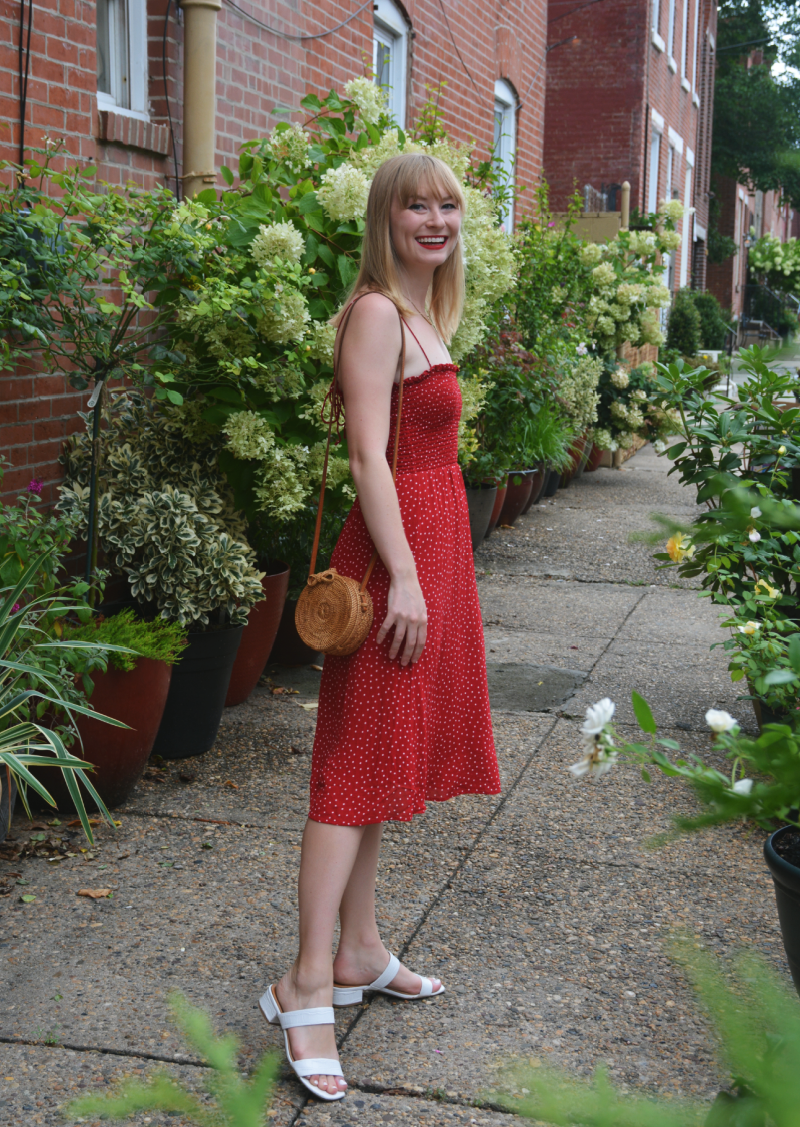 A Strappy Red Sundress | Organized Mess