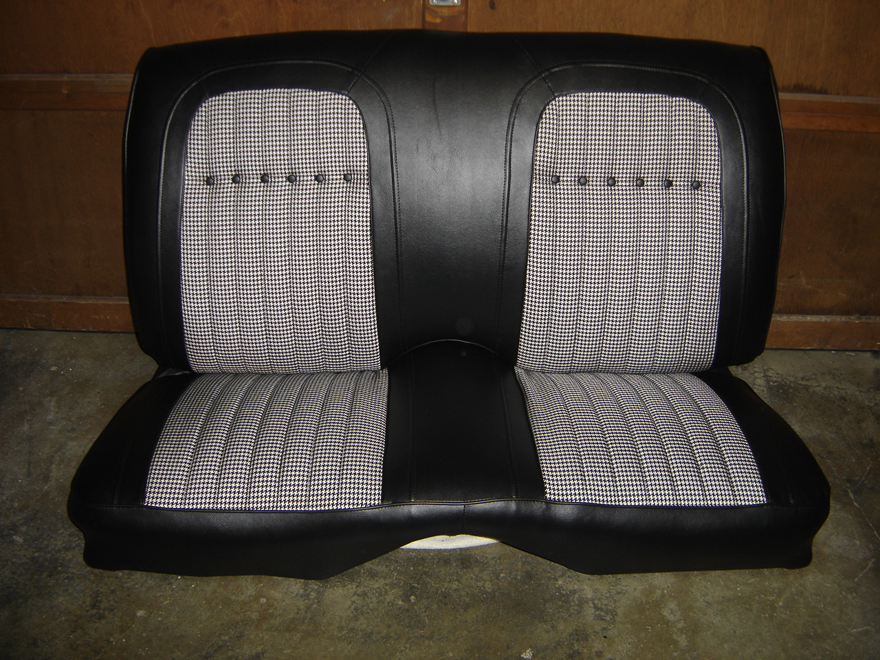 1969 Camaro Convertible Black Houndstooth Seat Classic