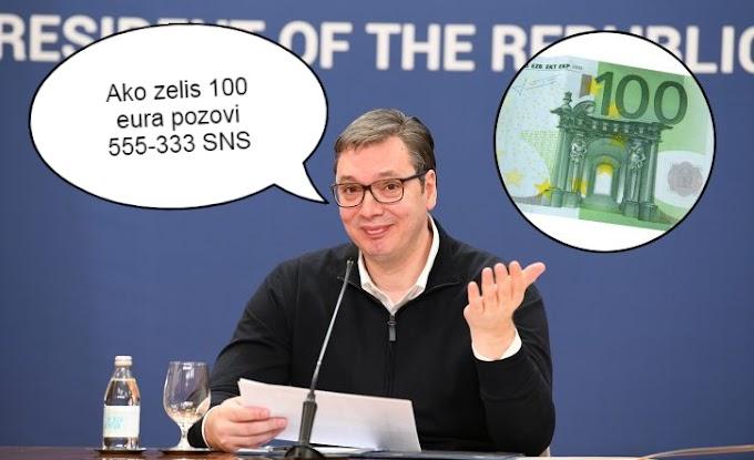 Vučić i Mali obećali svim punoletnim građanim po 100 eura ,sada promenili ploču !