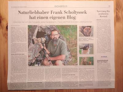 Ein Artikel über uns in der Zeitung, habe ich mich ehr darüber gefreut...