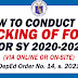 DEPED CHECKING OF SCHOOL FORMS (SY 2020-2021)