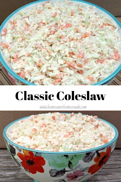 Classic Coleslaw - Home Sweet Homestead