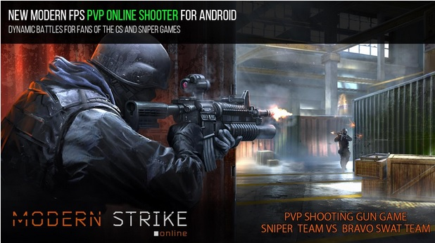 Modern Strike Online pvp shooting gun