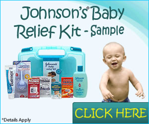 Johnson baby relief kit sample