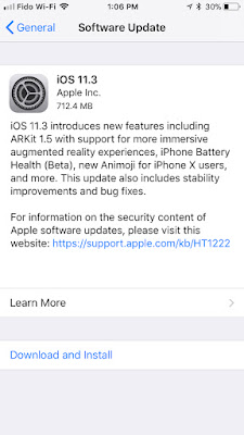 Apple Releases iOS 11.3 for iPhone, iPad, iPod touch [Download]