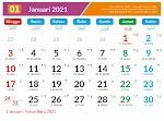 Kalender Bulan Januari 2021 dan Hari Peringatannya