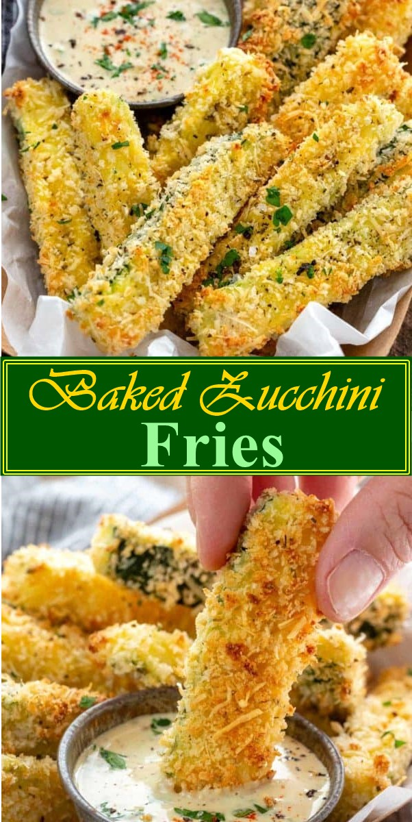 Baked Zucchini Fries #appetizerrecipes