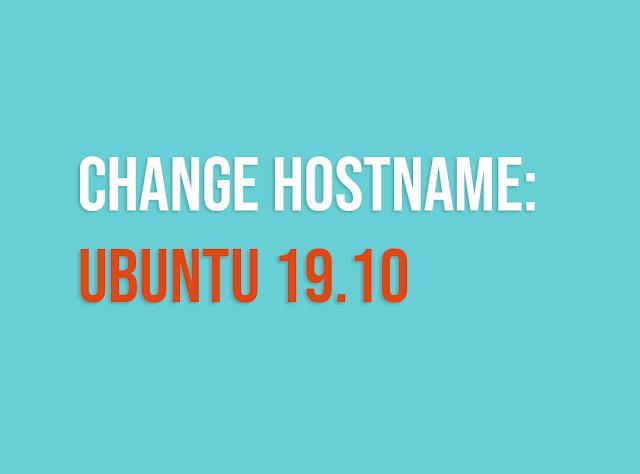 ubah hostname ubuntu
