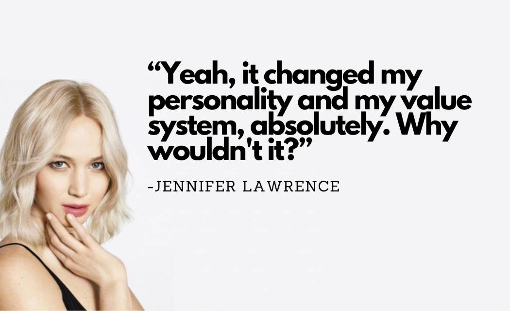 Jennifer Lawrence quotes about Love, Success, Funny, Feminist, Foodie, Acting, and more with quotes images.
